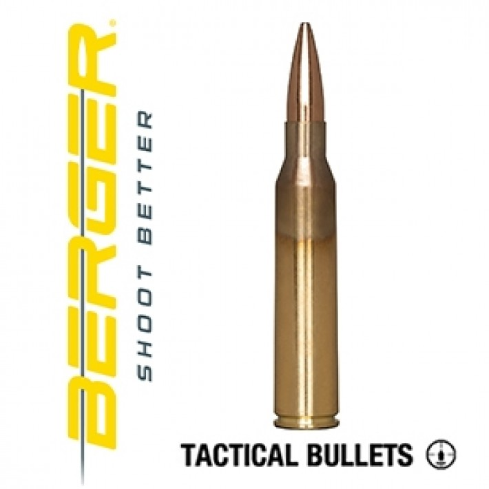 Cartuchos Berger Scenar OTM Tactical 338 Lapua Magnum 250 grains BTHP