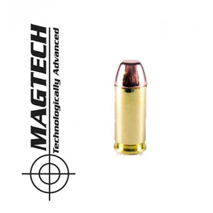 Cartuchos CBC Magtech FMJ FP .40 S&W 180 grains