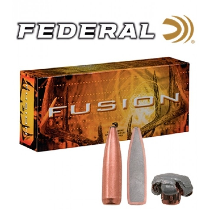 Cartuchos Federal Fusion .243 Winchester  95 grains SPBT