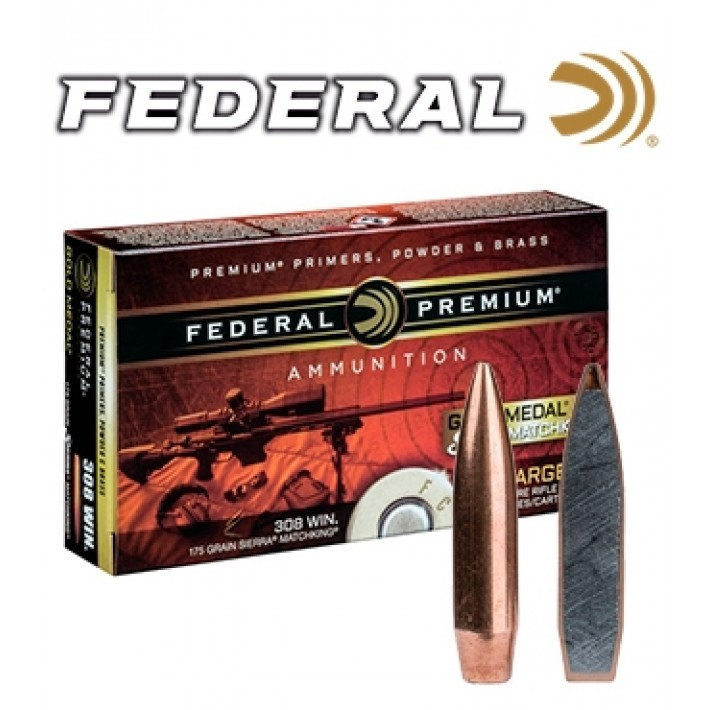 Cartuchos Federal Gold Medal .300 Winchester Magnum 190 grains HPBT