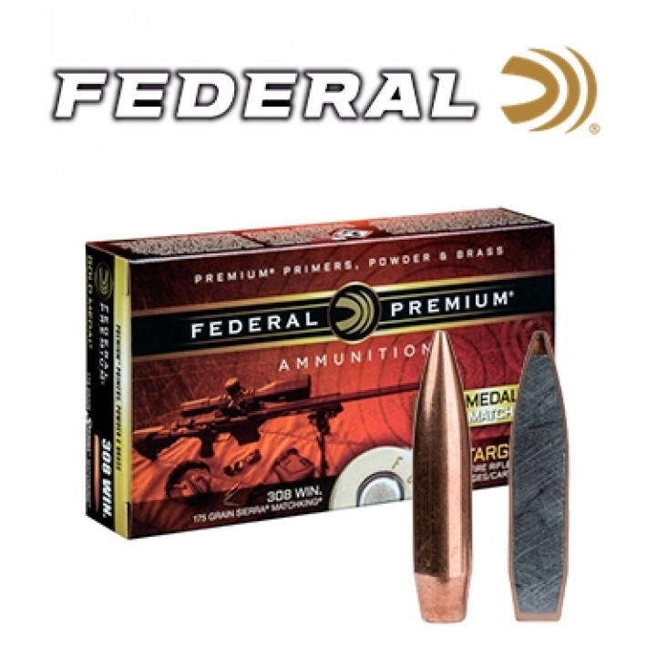 Cartuchos Federal Gold Medal .338 Lapua Magnum 250 grains HPBT