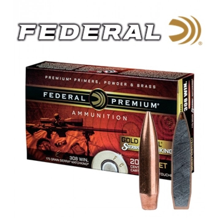 Cartuchos Federal Gold Medal .338 Lapua Magnum 300 grains HPBT