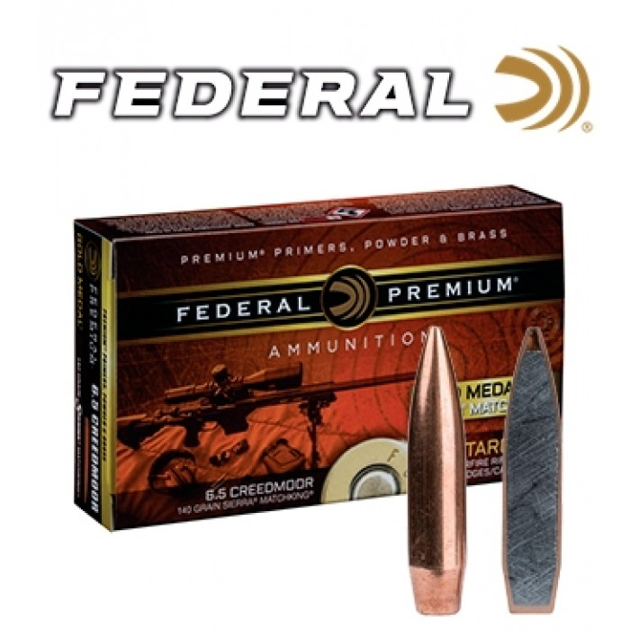 Cartuchos Federal Gold Medal 6.5 Creedmoor 140 grains HPBT