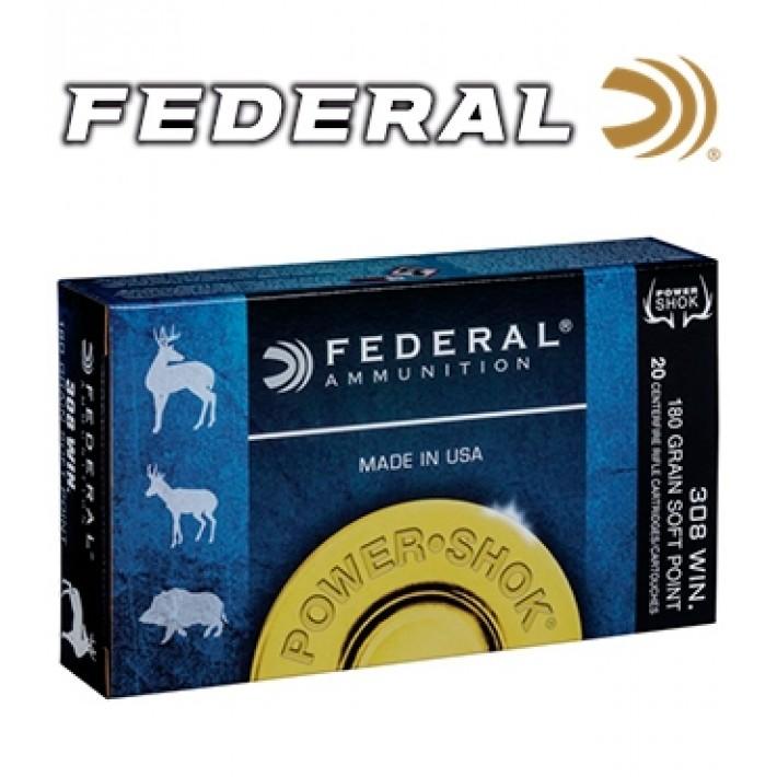 Cartuchos Federal Power Shok .308 Winchester 180 grains SP