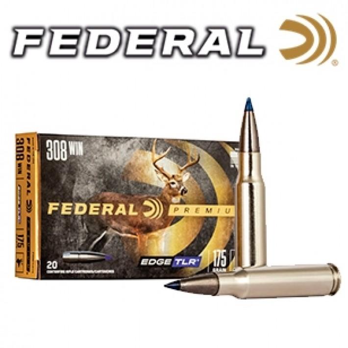 Cartuchos Federal Premium .308 Winchester 175 grains Edge TLR
