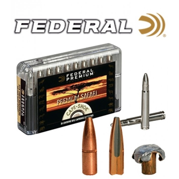 Cartuchos Federal Premium Safari .458 Lott 500 grains Trophy Bonded Bear Claw
