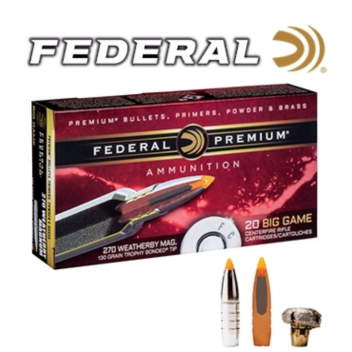 Cartuchos Federal Trophy Bonded Tip .30-06 Springfield 165 grains Trophy Bonded Tip