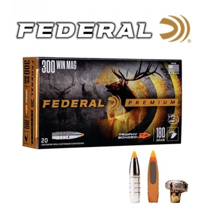 Cartuchos Federal Premium .300 Winchester Magnum 180 grains Trophy Bonded Tip