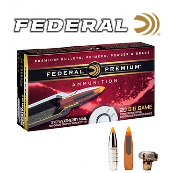 Cartuchos Federal Trophy Bonded Tip .308 Winchester 180 grains Trophy Bonded Tip