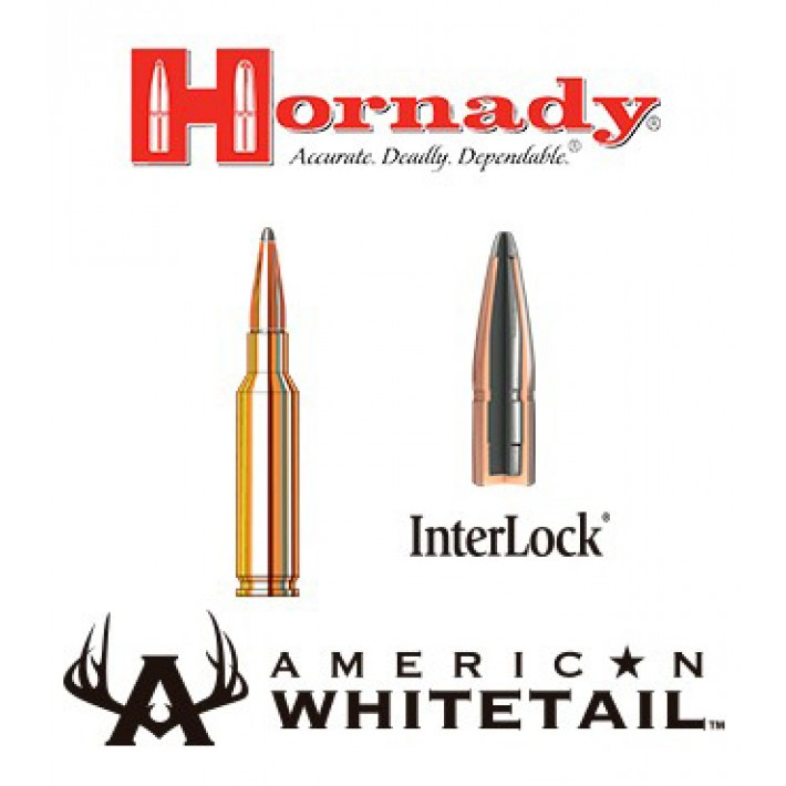 Cartuchos Hornady American Whitetail 6.5 Creedmoor 129 grains Interlock SP