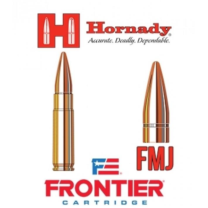 Cartuchos Hornady Frontier .300 Blackout 125 grains FMJ - 150 unidades