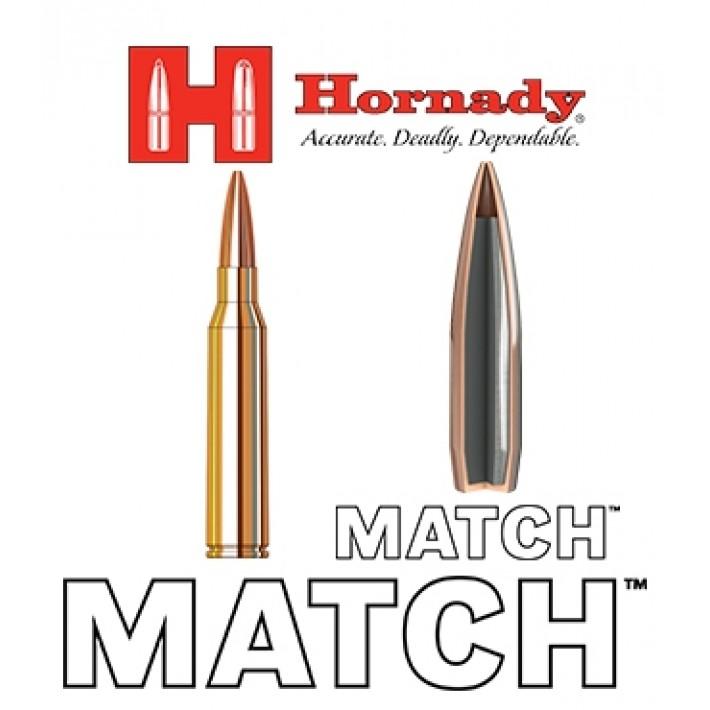 Cartuchos Hornady Match .338 Lapua Magnum 285 grains BTHP