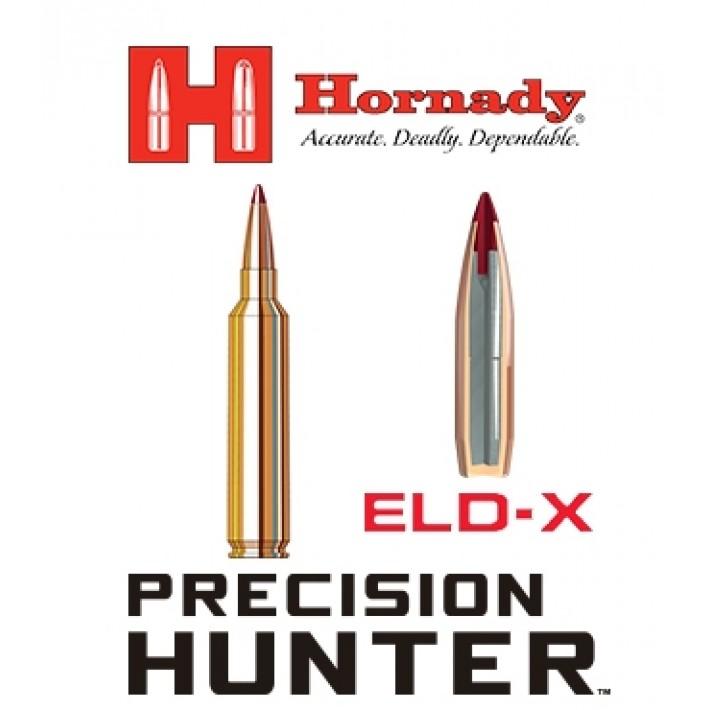 Cartuchos Hornady Precision Hunter .28 Nosler 162 grains ELD-X