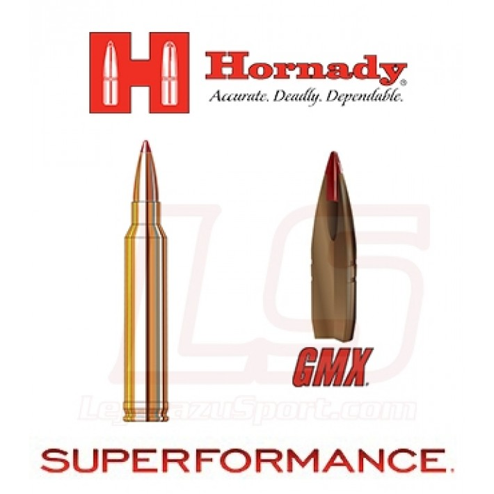 Cartuchos Hornady Superformance .300 Winchester Magnum 165 grains GMX