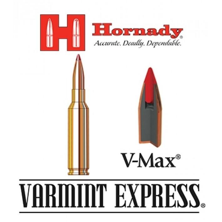Cartuchos Hornady Varmint Express 6,5 Creedmoor 95 grains V-Max