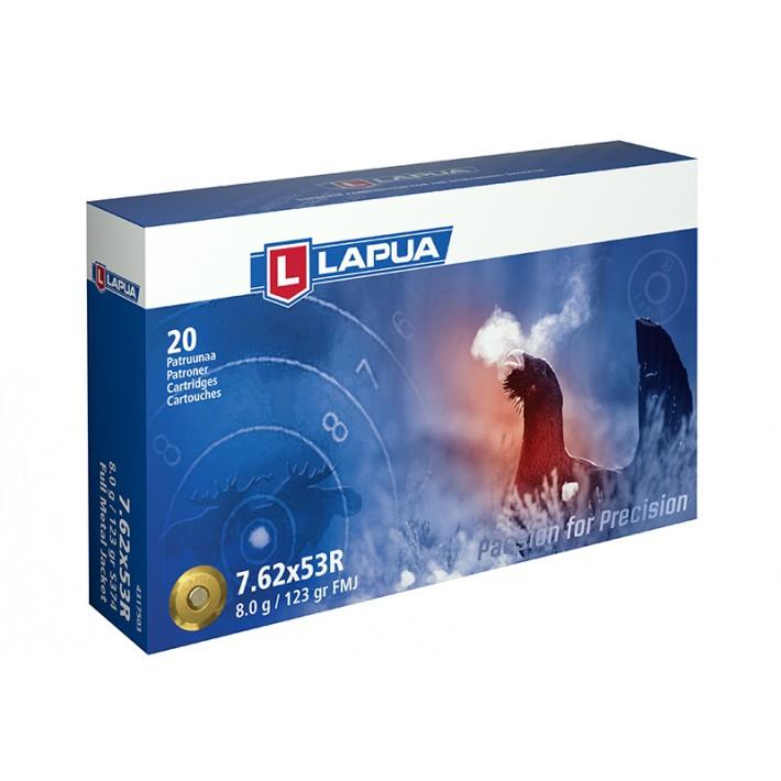 Cartuchos Lapua Full Metal Jacket 7.62x53 R 123 grains