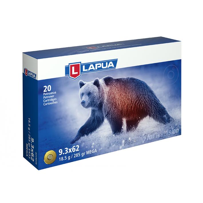 Cartuchos Lapua Mega 9.3x62 Mauser 285 grains
