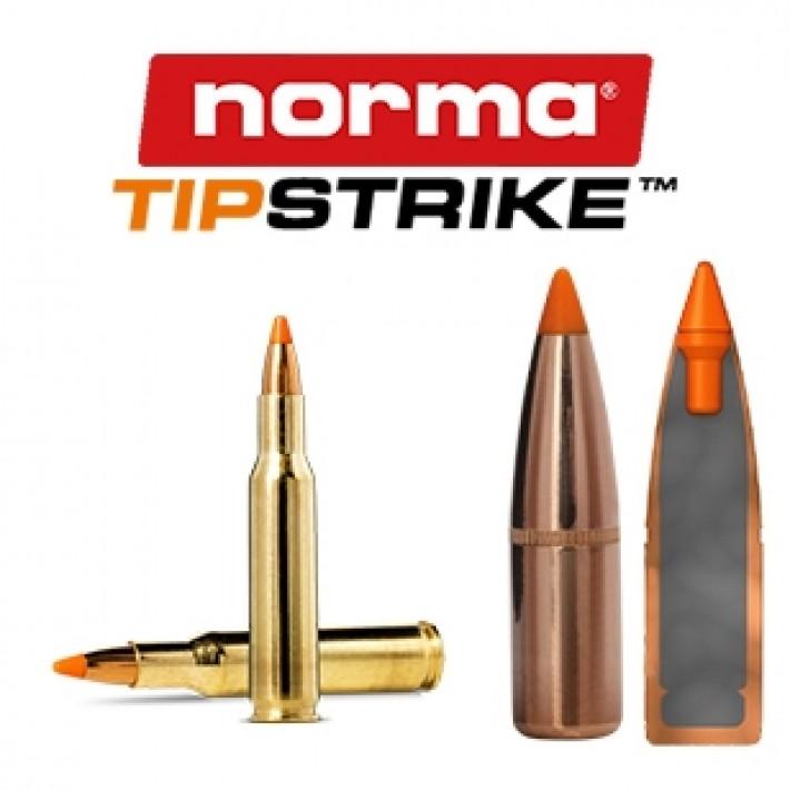 Cartuchos Norma .222 Remington 54 grains Tipstrike Varmint