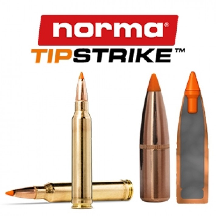 Cartuchos Norma .300 Winchester Magnum 170 grains Tipstrike