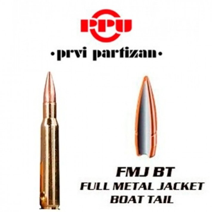 Cartuchos Prvi Partizan .30-06 Springfield 175 grains FMJBT