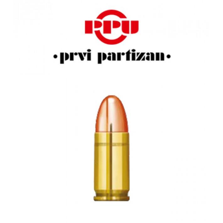 Cartuchos Prvi Partizan 9mm Luger 95 grains FMJ