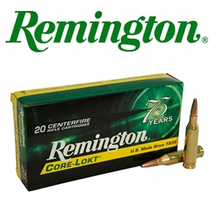 Cartuchos Remington .243 Winchester 100 grains Core Lokt
