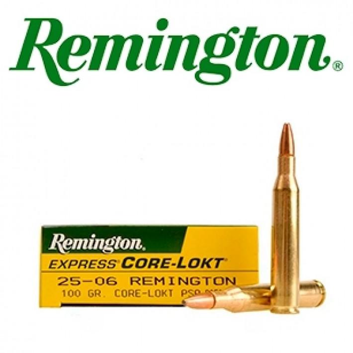 Cartuchos Remington .25-06 Remington 100 grains Core Lokt