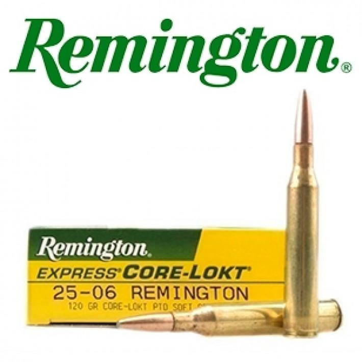 Cartuchos Remington .25-06 Remington 120 grains Core Lokt