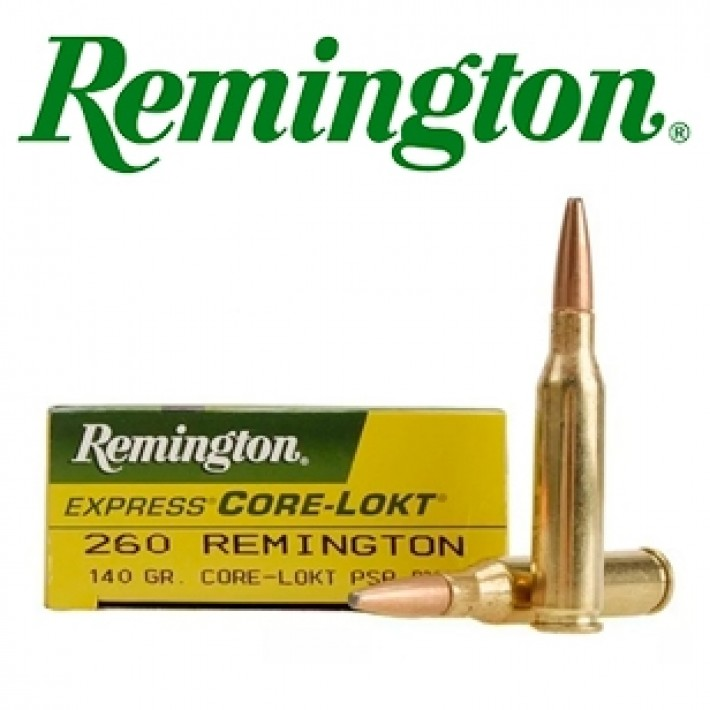 Cartuchos Remington .260 Remington 140 grains Core Lokt