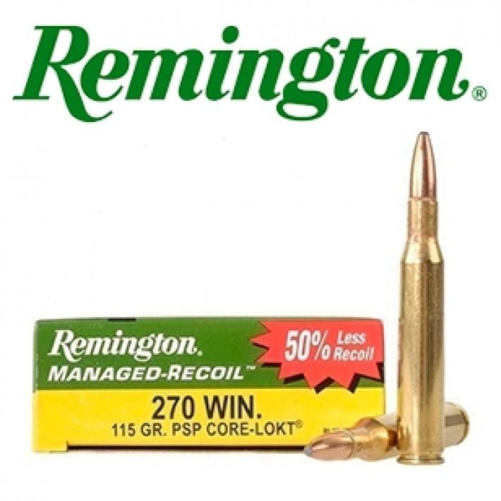 Cartuchos Remington .270 Winchester 115 grains Core Lokt