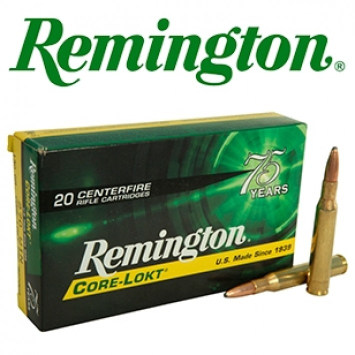 Cartuchos Remington .270 Winchester 130 grains Core Lokt
