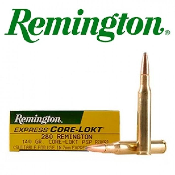 artuchos Remington .280 Remington 140 grains Core Lokt