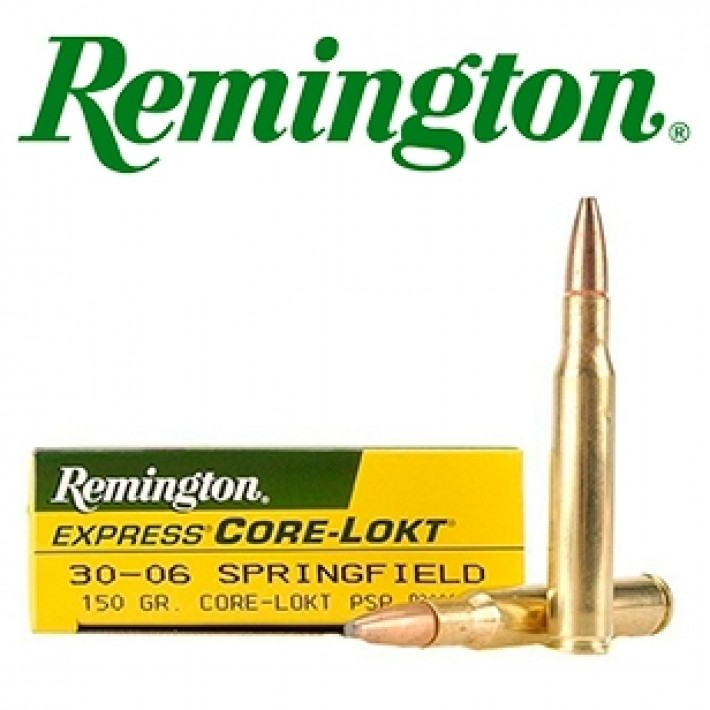 Cartuchos Remington .30-06 Springfield 150 grains Core Lokt