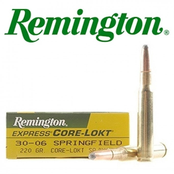 Cartuchos Remington .30-06 Springfield 220 grains Core Lokt
