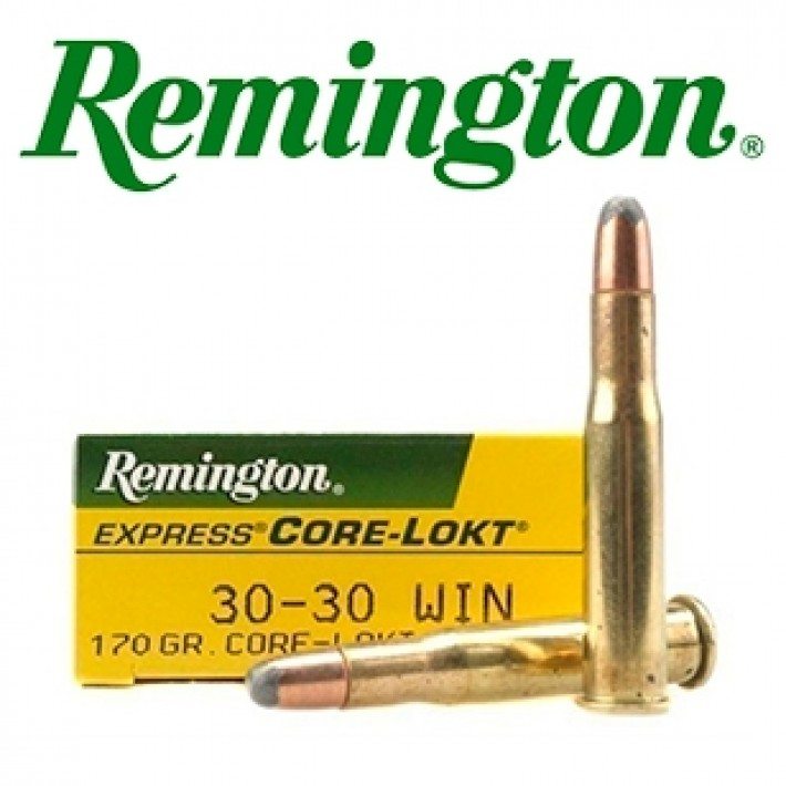 Cartuchos Remington .30-30 Winchester 170 grains Core Lokt