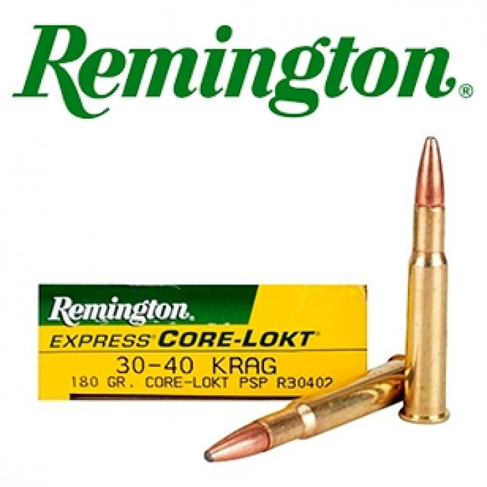Cartuchos Remington .30-40 Krag Jorgensen 180 grains Core Lokt