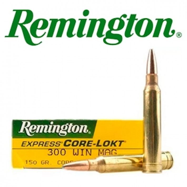 Cartuchos Remington .300 Winchester Magnum 150 grains Core Lokt