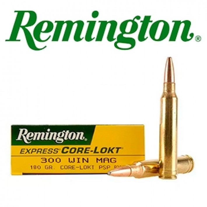 Cartuchos Remington .300 Winchester Magnum 180 grains Core Lokt