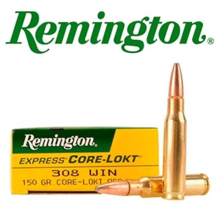 Cartuchos Remington .308 Winchester 150 grains Core Lokt