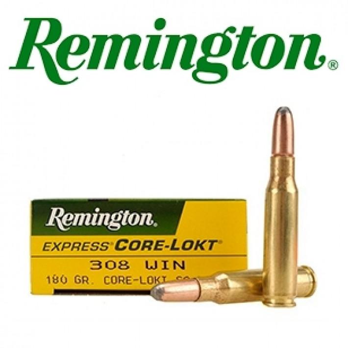 Cartuchos Remington .308 Winchester 180 grains Core Lokt