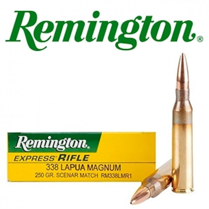 Cartuchos Remington .338 Lapua Magnum 250 grains Scenar