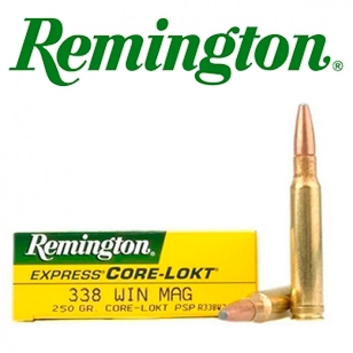 Cartuchos Remington .338 Winchester Magnum 250 grains Core Lokt