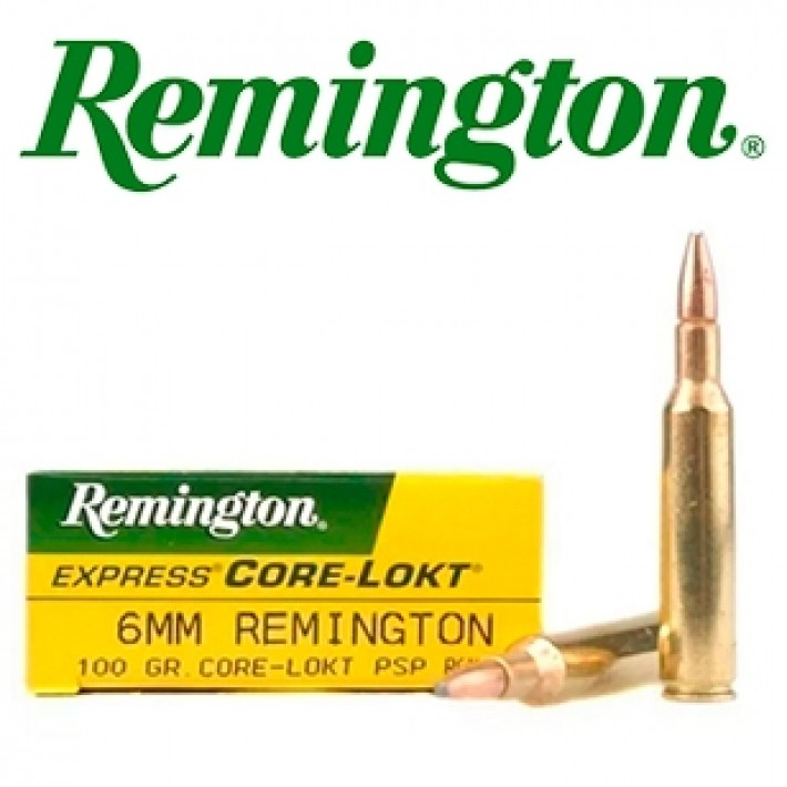 Cartuchos Remington 6mm Remington 100 grains Core Lokt