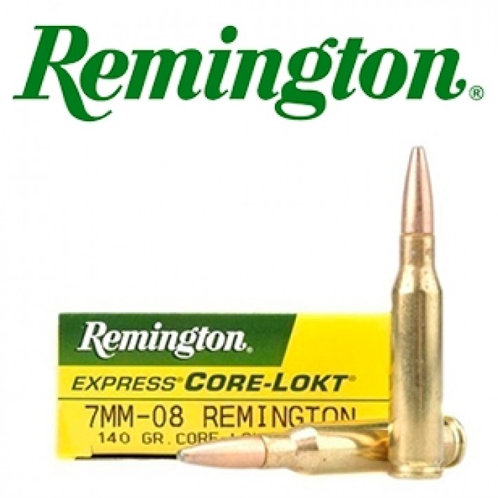 Cartuchos Remington 7mm-08 Remington 140 grains Core Lokt