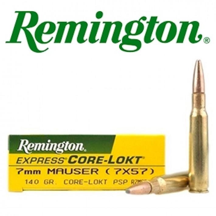Cartuchos Remington 7x57 Mauser 140 grains Core Lokt