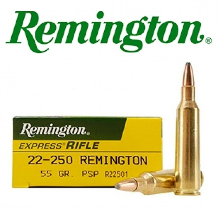 Cartuchos Remington High Performance Rifle .22-250 Remington 55 grains SP