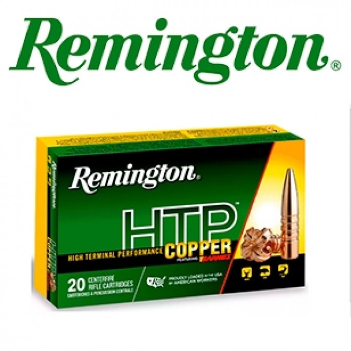 Cartuchos Remington HTP .30-06 Springfield 168 grains TSX BT
