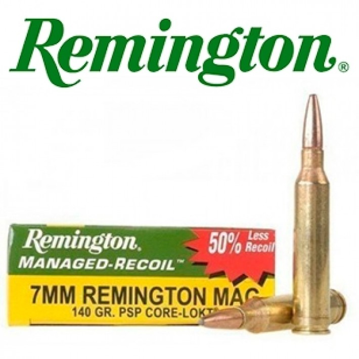 Cartuchos Remington Managed Recoil 7mm Remington Magnum 140 grains Core Lokt