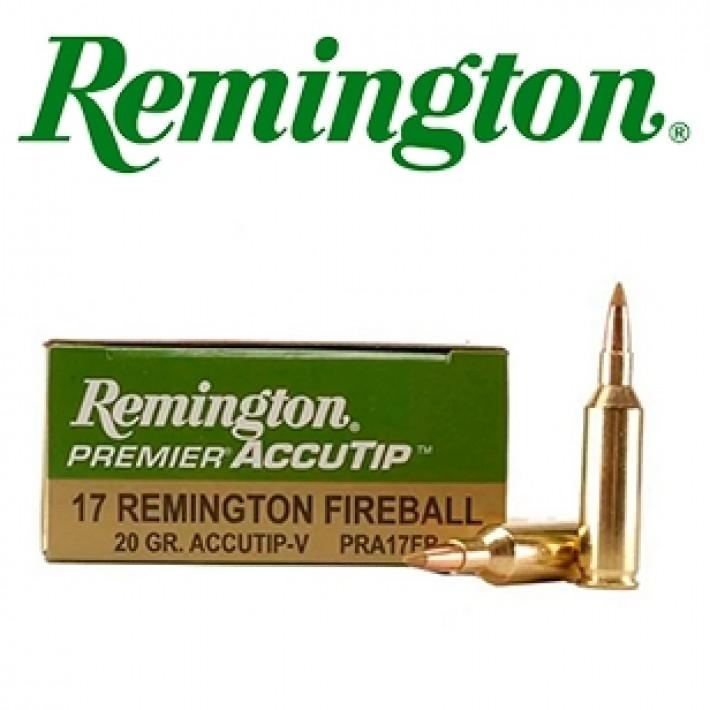 Cartuchos Remington Premier .17 Remington Fireball 20 grains AccuTip-V
