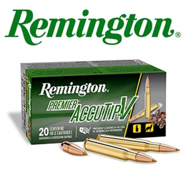 Cartuchos Remington Premier .22-250 Remington 50 grains AccuTip-V
